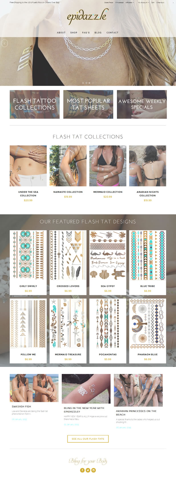 Epidazzle Flash Tattoos